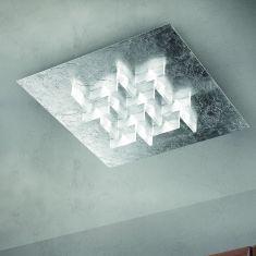 Exklusive Deckenleuchte - Handarbeit aus Italien -  LED in Blattsilber