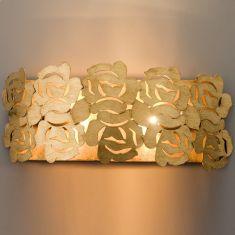 Exklusive Wandleuchte mit Blattgold beschichtet - 2-flammig