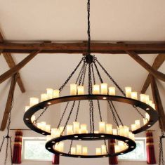 65 flammige Ringkrone-wertvolle Handarbeit, Robers Leuchten
