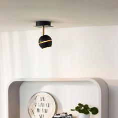 1 flammiger LED Deckenstrahler Binari von Lucide, weiß oder schwarz