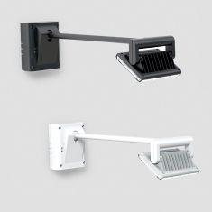Flächenstrahler LED-Strahler XLED FL-50 mit Dämmerungssensorik 2-100lx,  in Weiß oder Schwarz lieferbar, 3000°K , IP44