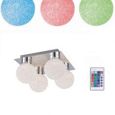 4 fl.LED Deckenleuchte Miko- RGB, CCT und Fernbedienung