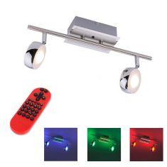 2 flm.LED Deckenleuchte Opti mit RGB und CCT und Fernbedienung