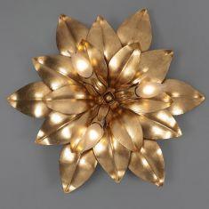 Florentiner Deckenleuchte - Handgefertigt in Italien - 3-flammig - Blattgold