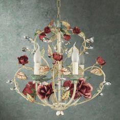 Florentiner Konleuchter mit Rosen
