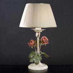 Florentiner Tischleuchte - Handgefertigt in Italien - 1-flammig - Eisen lackiert - Farbe: Pastello patinato