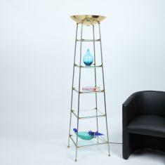 Fluter mit 5 Glasböden, Rarität; Einzelstück