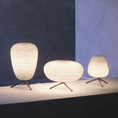 Foscarini Tischleuchte Rituals, Glas 3 unterschiedliche Formen