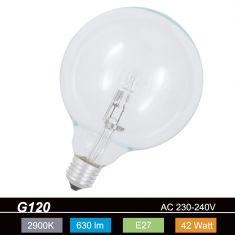 G120 Globe,  E27, klar, 42 Watt 1x 42 Watt, 42 Watt, 630,0 Lumen, 55,00 Watt
