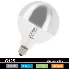 G120, Globe, Kopfspiegel-silber, E27