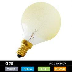 G60 Globe E14 Eiskristall bernstein 25 Watt 1x 25 Watt, 25 Watt, 180,0 Lumen