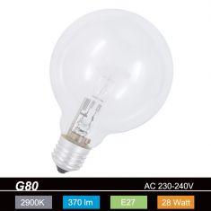 G80 Globe, E27, klar, 28 Watt 1x 28 Watt, 28 Watt, 370,0 Lumen