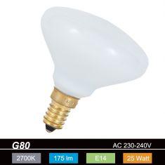 G80 Spezial E14  25W  opal  2700K  230V 175lm 360° dimmbar
