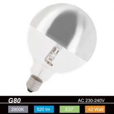G80, Globe, Kopfspiegel-silber, E27