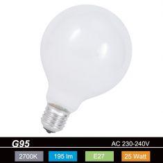 G95 Globe 25W opal weiß
