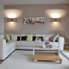 Wandleuchten Für Wohnzimmer gipswandleuchte kubik 12x12cm lichtaustritt wählbar | wohnlicht