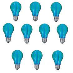 Glühlampe, Leuchtmittel, Glühbirne AGL E27 40W grün/blau Längs gestreift