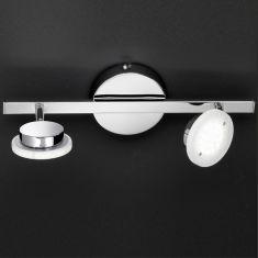 Glänzende LED-Strahlerserie - Chrom - Acrylglas - Decken- oder Wandstrahler 2-flammig