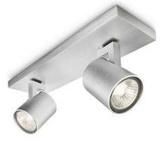 halogen spot serie aluminium 2 flammiger deckenspot wohnlicht. Black Bedroom Furniture Sets. Home Design Ideas