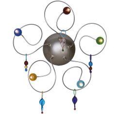 Handgefertigte Design-Wandleuchte STRAWBERRY mit Murano Glaskugeln