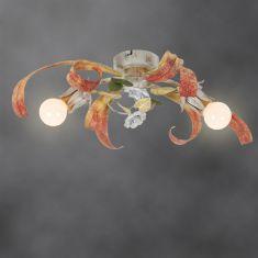 Handgefertigte Florentiner Deckenleuchte - Made in Italy - 2-flammig 2x 40 Watt, 18,00 cm, 58,00 cm, 44,00 cm
