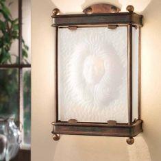 Handgeschmiedete Wandleuchte mit Venezianischem Glas