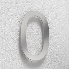 Hausnummer 0-9 aus Edelstahl, Höhe 16cm
