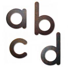 Hausnummer Buchstaben von a-d, in Braun-Gold patiniert