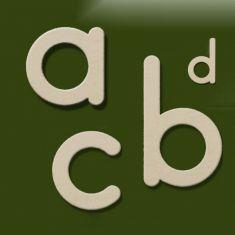 Hausnummer Buchstaben von a-d, in Weiß-Gold patiniert