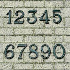 Hausnummer der Ziffern von 0 bis 9 - dunkelgrün