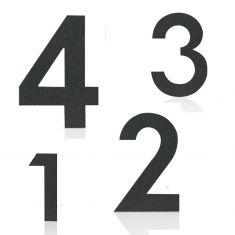 Hausnummer in Grafitgrau, pulverbeschichteter Edelstahl, Höhe 12cm, Nummer 2 Hausnummer 2