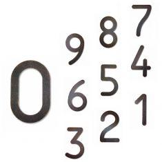 Hausnummer von 0-9, in Braun-Gold patiniert,  Höhe 16cm,