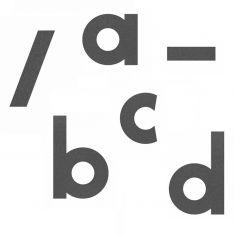 Hausnummer-Buchstaben Grafitgrau Höhe 12cm,