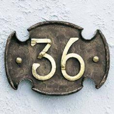 Hausnummer - Handgeschmiedet aus Gusseisen