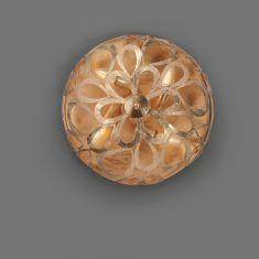 Hochwertige Deckenleuchte - Blattgold weiß patiniert 40 cm