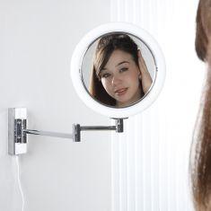 Hochwertiger Kosmetikspiegel mit kaltweißem LED-Licht