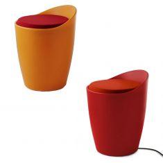 Hocker OTTO beleuchtet für Indoor, in orange oder rot
