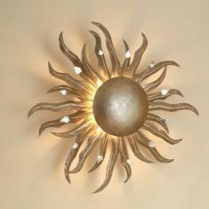 Holländer die Sonne Wand-oder Deckenleuchte in silber