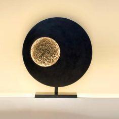 Holländer LED-Tischleuchte Luna Eisen braun schwarz