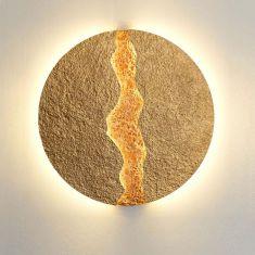 Holländer LED-Wandleuchte Eruption Gold, 2 Größen