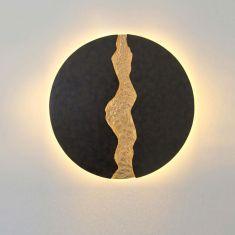 Holländer LED-Wandleuchte Lava, braun schwarz