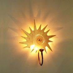 Holländer Wandleuchte rotierender Stern goldfarbend