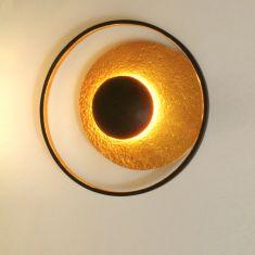 Holländer Wandleuchte Satellite rund, Gold oder Silber