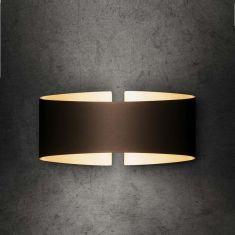 Holtkötter LED-Wandleuchte Voilà in Fumé matt braun