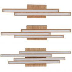 Holz Deckenleuchte Linus, Eiche geölt, drei Varianten