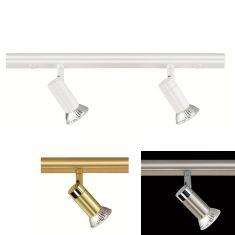 Hufnagel LED-Decken-Strahlerbalken 2-flg, 3 Oberflächen