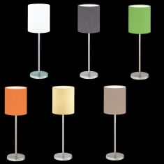 Hufnagel Tischleuchte Linus Z Nickel-matt, 6 Farben
