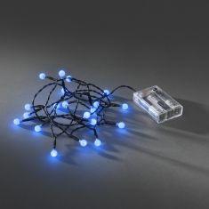 Innen LED-Globelichterkette - 20 runde Dioden, blau blau