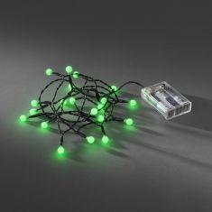 Innen LED-Globelichterkette - 20 runde Dioden, grün grün