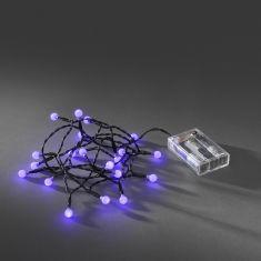 Innen LED-Globelichterkette - 20 runde Dioden, purpur purpur